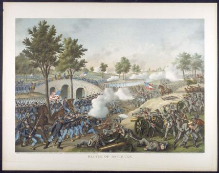 Antietam Battle Casualties Battle of Antietam Lithograph