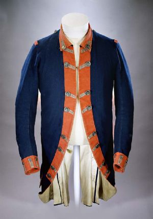Continental army uniform coat