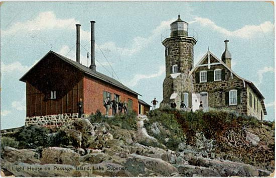Nmah Lighthouse Postcards Passage Island Lighthouse
