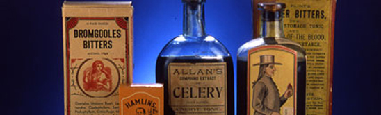 Balm of America Banner image, a collection of medicine