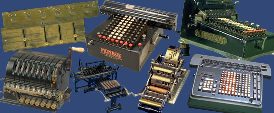 An image featuring several calculating machines from the collection.