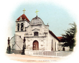 postcard image of mission
