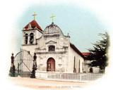 postcard image of mission
