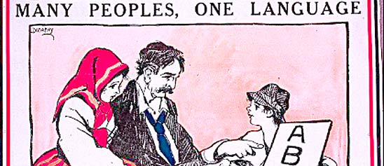 Cleveland Many Peoples One Language Poster