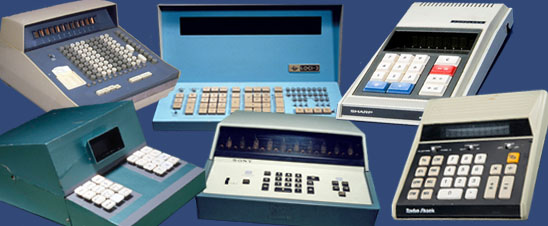 A collection of desktop electronic calculators in the Division of Medicine and Science at the National Museum of American History.