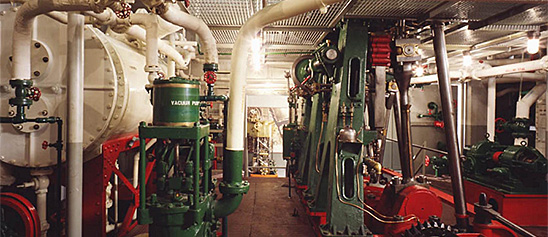 Engine Room From Coast Guard Buoy Tender Oak