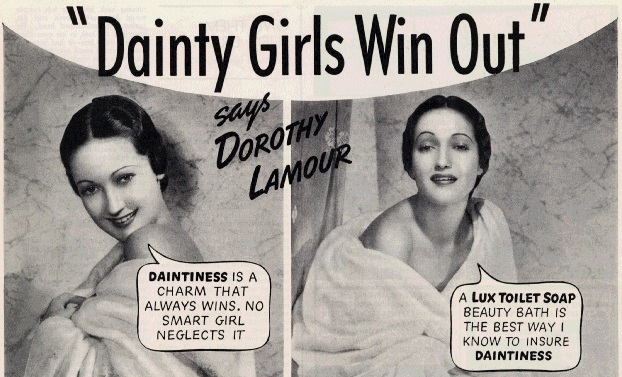 Lux Toilet Soap advertisement featuring Dorothy Lamour