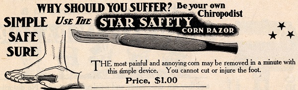 Star Safety Corn Razor advertisement