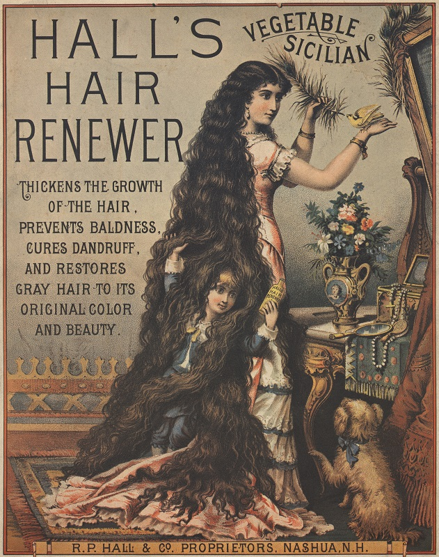 Hall's Vegetable Sicilian Hair Renewer advertisement