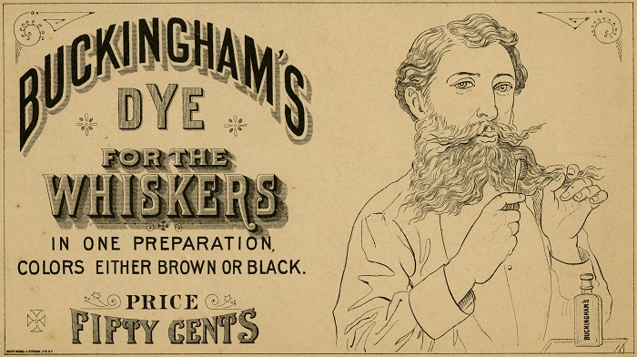 Buckingham's Dye for the Whiskers advertisement