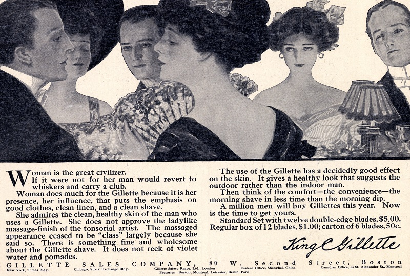 1910 Gillette advertisement, Archives Center