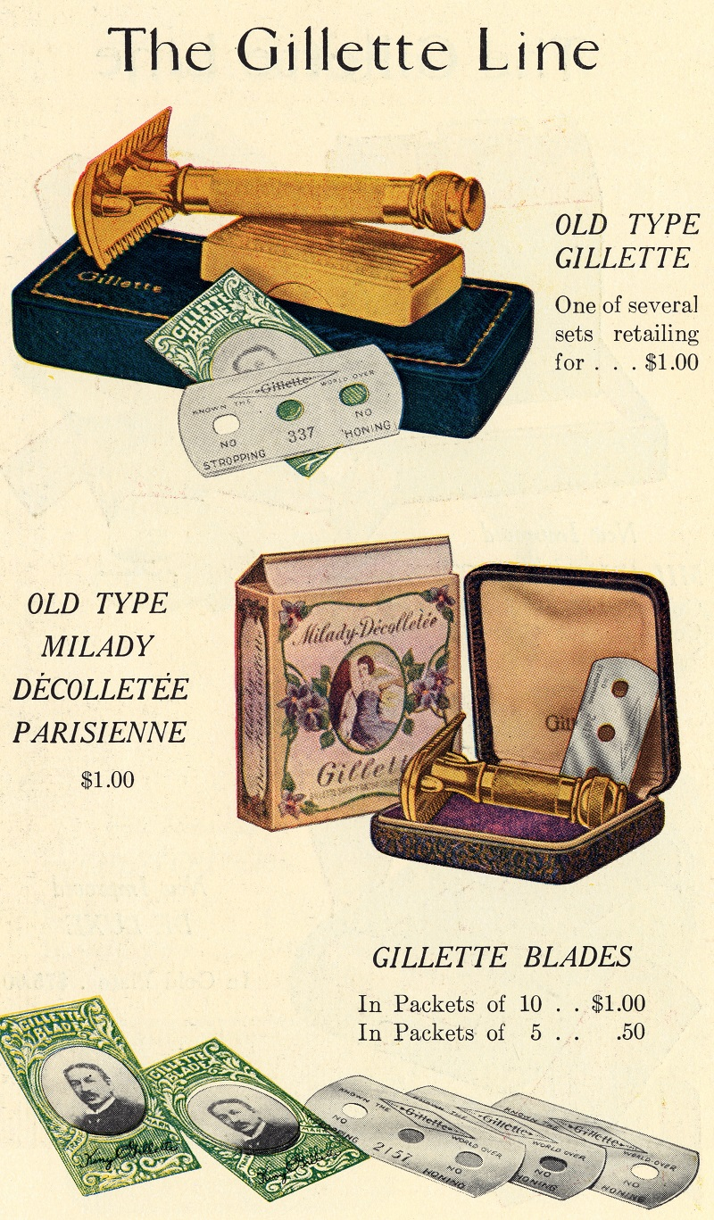 Gillette Catalog Advertisement for Razor sets