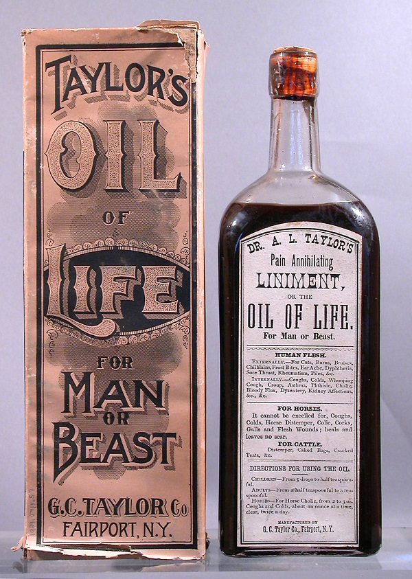 Taylor's Oil of Life for Man or Beast