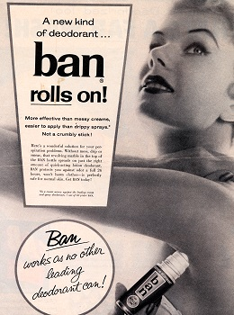 Ban Roll-on Deodorant advertisement