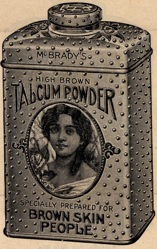 McBrady's Talcum Powder for Brown Skin People