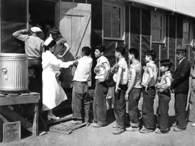Manzanar War Relocation Center, April 2, 1942.