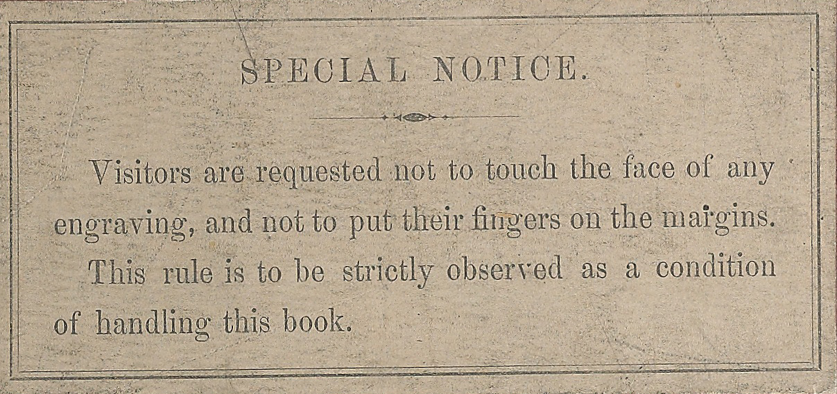 The special notice on the cover of