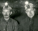 Consolidated Coal Company Miners showing proper method of shooting coal, March 6, 1924.