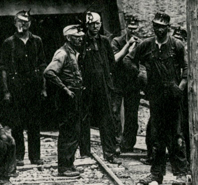 Image of Kentucky Miners wearing Oil-Wick Lamps