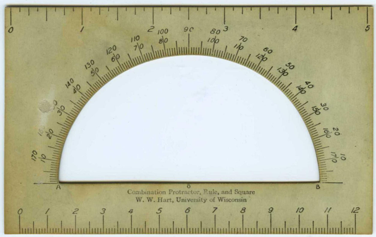 Image of a Hart Combination Protractor, Rule, And Square