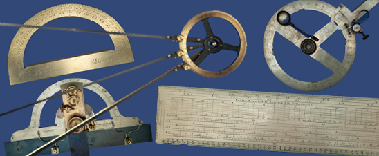 Some examples of protractors in the collection
