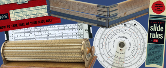 An image of various slide rules from the collection of the Division of Medicine and Science at the National Museum of American History.