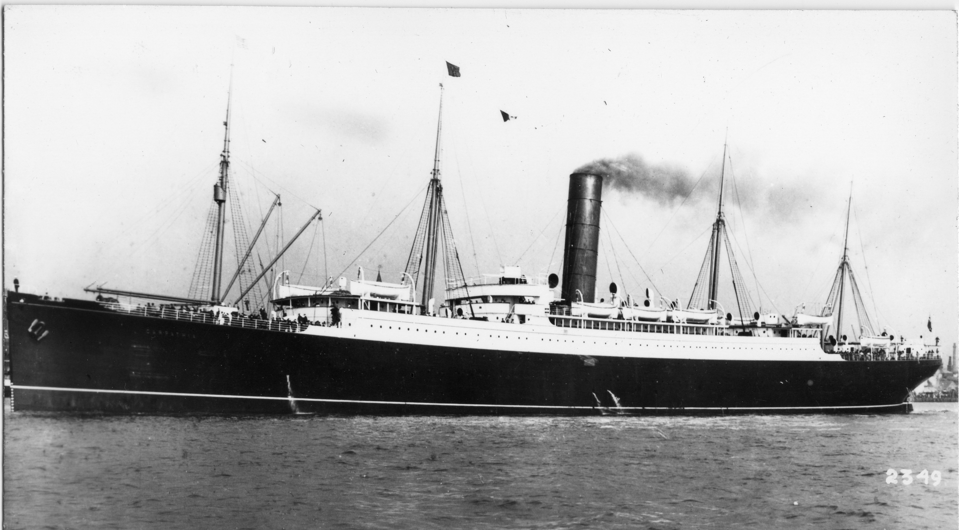 Carpathia, the ship that rescued the Titanic survivors