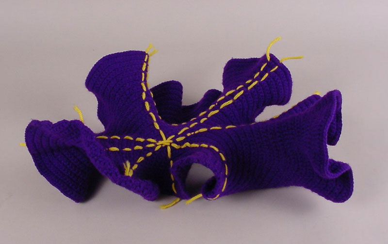 Image of Crocheted Model of a Hyperboic Plane, about 2002.