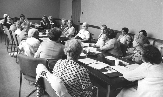 Photo of Eighteen Women with PhD's in Mathematics at the NMAH in 1981