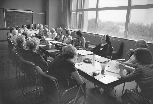 Image of Eighteen Women with PhD's in Mathematics at the NMAH in 1981