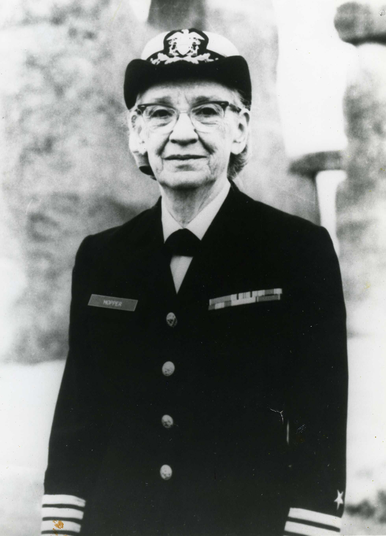 Captain Grace Hopper, about 1975. Gift of Grace Hopper.