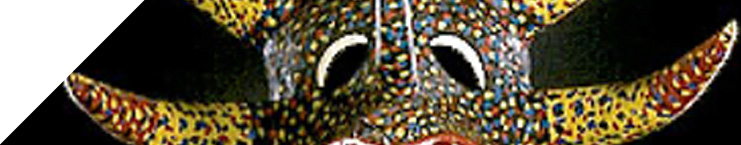 A Carnival mask from the Museum's collections.