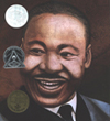 Front cover of the book Martin's Big Words, large picture of MLK