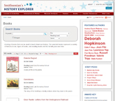 view of the History Explorer Books Tab