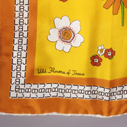 Lady Bird Johnson's scarf with Texas wildflowers and initials