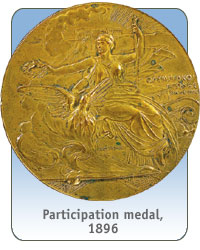 Participation medal, 1896