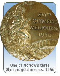 One of Morrow's three Olympic gold medals, 1956