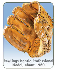 Rawlings Mickey Mantle Professional Model, about 1960