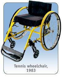 Tennis wheelchair, 1983