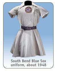 South Bend Blue Sox uniform, about 1948