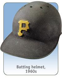 Batting helmet and Pittsburgh Pirates uniform, 1960s
