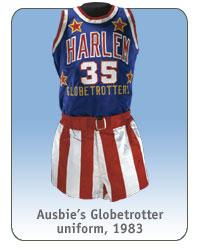 Ausbie's Globetrotter uniform, 1983