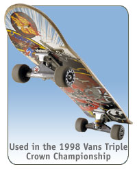 Santa Cruz skateboard used by Brauch in the 1998 Vans Triple Crown Championship