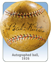 Autographed ball, 1926