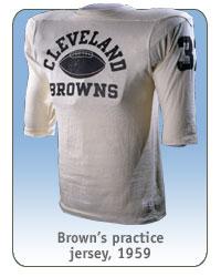 Brown's practice jersey, 1959