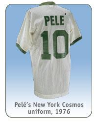 Pelé's New York Cosmos uniform, 1976