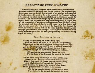 image relating to National Anthem Lyrics Printable named NMAH The Lyrics